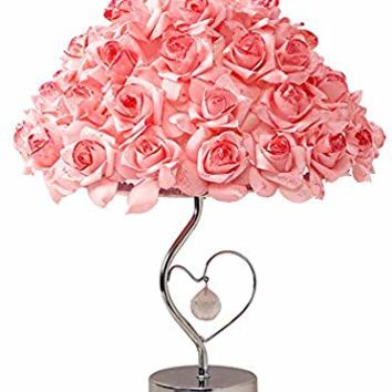LED Table Lamps - Adjustable Rose Flower Desk Lamp|Wedding Living Room Bedroom Party Home Decor with White LED Lights Pink