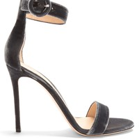 Portofino 105 velvet sandals | Gianvito Rossi | MATCHESFASHION.COM US