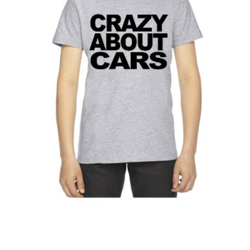 Crazy about motor cars t-shirt - Youth T-shirt
