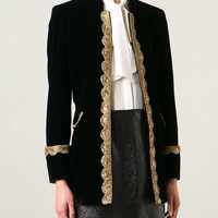Saint Laurent Embroidered Trim Jacket - Tiziana Fausti - Farfetch.com