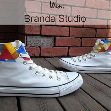 2013 Tribal Patterns Shoes Studio Hand Painted Shoes 47.99Usd,Hand Paint On Custom Con