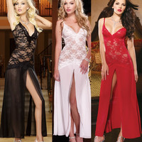 Hot Deal Sexy Cute On Sale See Through Lace Dress Ladies Spaghetti Strap Exotic Lingerie [6595882563]