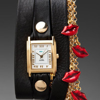 LA MER EXCLUSIVE Lips Charm Wrap Watch in Red at Revolve Clothing - Free Shipping!