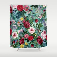 Surreal Garden Shower Curtain by RIZA PEKER