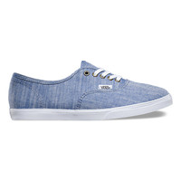 Floral Chambray Authentic Lo Pro | Shop Womens Shoes at Vans