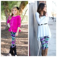 Mint and Purple Leggings - Ryleigh Rue Clothing by MVB
