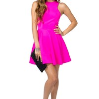 Racerneck Flare Dress