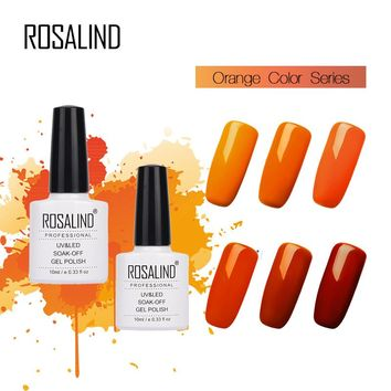 Rosalind 10ML White Bottle Resin Nail Gel Polish Orange Colors Cheapvernis Semi Permanant UV/LED Gel Polish Gel Paint For Nails