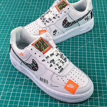 Nike Air Force 1 AF1 Low Custom Just Do It 905345-500 SL YS White Black Graffiti Sport shoes DCCK