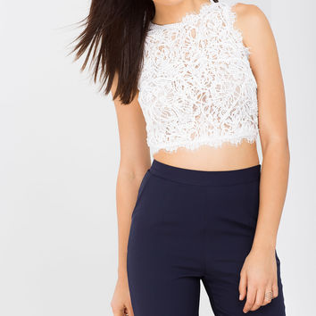 Corinne Corded Lace Tank
