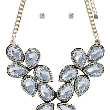 Crystal Statement Necklace & Earrings SET