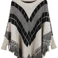 Cupshe Warm It Up Tassel Poncho