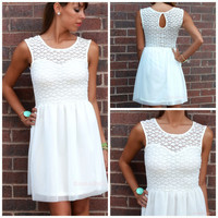 Crane Beach Off White Sweetheart Dress