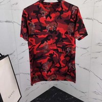 NEW 100% Authentic gucci 2018 leopard camo t shirt  23