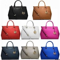 shosouvenir MK Women Shopping Bag Leather Satchel Crossbody Handbag Shoulder Bag