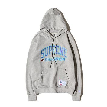 Trendsetter Supreme X Champion Women Men Fashion Casual Top Sweater Pullover Hoodie
