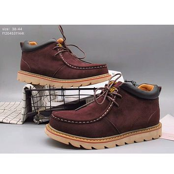 Autumn and winter new Martin boots British high to help the trend tooling boots shoes casual shoes F-A36H-MY Coffee