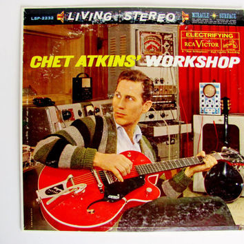 Chet Atkins' Workshop 1961 LSP-2232 RCA Stereo Vinyl Record Album His Best Selling Album Billboard #7 Mix of Jazz and Pop