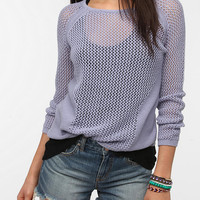 Urban Outfitters - Silence & Noise Placed Mesh Pullover Sweater