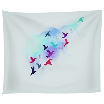 Paper Birds Tapestry