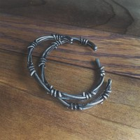 Barbed Wire Cuff Set