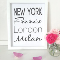 Typography art print  - New york - city wall art - fashion decor
