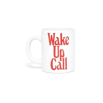 BAN.DO HOT STUFF CERAMIC MUG - WAKE UP CALL (CREAM)