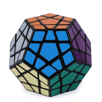 Shengshou Megaminx Magic Cubes 12 Sides PVC Sticker Dodecahedron Toy Square Cubo Puzzle Twist Educational Toys For Children Gift