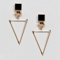 ASOS Open Triangle Drop Earrings at asos.com