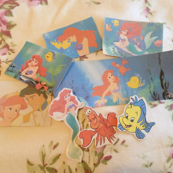 The Little Mermaid Sticker Pack by GoldenGlitterr on Etsy