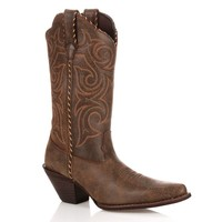 Durango Crush Scall-Upped Women's Cowboy Boots (Brown)