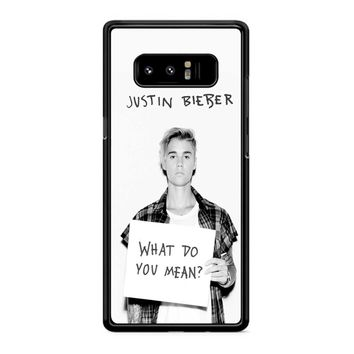 Justin Bieber What Do You Mean Samsung Galaxy Note 8 Case