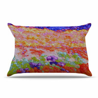 "Jeff Ferst ""Earthly Delights"" Floral Abstract Pillow Case"