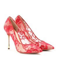 nicholas kirkwood - lace pumps with metallic stiletto heel