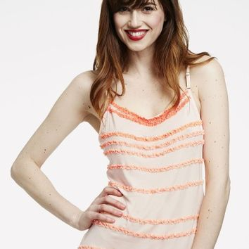 Modal and Chiffon Ruffled Cami   Artistic Revolution in Time