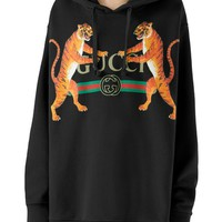Gucci Tiger Logo Hooded Sweatshirt | Nordstrom