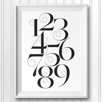 Vector PDF, Unlimited resizing - Skandinavian Typography Design, Motivational Poster, Gift Idea, Card Making, Numbers Wall Decor CP-912