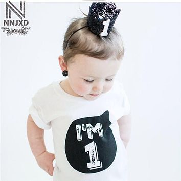 Children's 1 2 3 4 Year Birthday T-Shirts Little Girls Boys Tops Baby Summer Shirt Tees for Girls Designer Kids Bebes Clothing