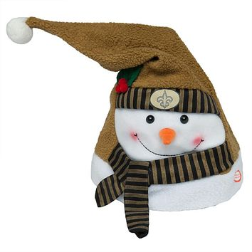 New Orleans Saints - Animated Snowman Musical Stocking Hat