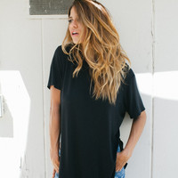 Live In Slouchy Tee - Black