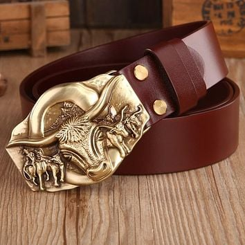 Belt Solid Brass Buckle