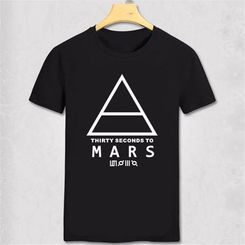 30 SECONDS TO MARS T-Shirt Men's Short-sleeve Printed Logo Original Tshirt Custom fashion music t shirt indie rock and roll band