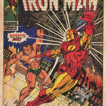 Iron Man #25 vs Sub-Mariner Marvel Comics Poster 24x36
