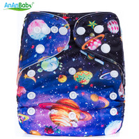 2016 Ananbaby Cloth Diaper Reusable Nappies Pant Washable Modern Cloth Nappy Pul Diaper Cover 100% Cotton Suit 0-2 Years 3-15KG