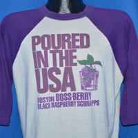 80s Poured in the USA Raspberry Schnapps t-shirt Large