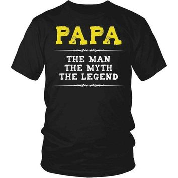 Papa T-Shirt, Papa The Man, The Myth, The Legend, Papa Gift, Gift for Papa, Grandfather Gift, Fathers Day, Gift for Dad, Dad Gift, Papa