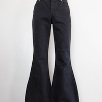black denim bells - M