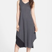 Eileen Fisher Colorblock Organic Linen V-Neck Dress