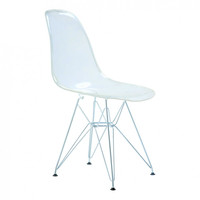 ModMade Paris Tower Acrylic Side Chair 2-Pack MM-AC-086-Clear