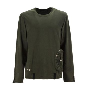 Army Green Long Sleeve T-Shirt by Helmut Lang